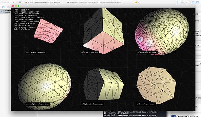 openFrameworks実行画面