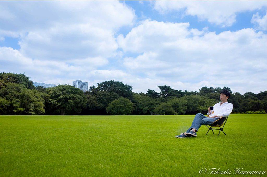 プロフィール写真撮影のオシゴト Vol.2(公園/街中で撮影)